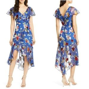 NEW Alice + Olivia Electra Floral Chiffon Dress 12